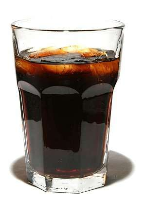 full glass of soda