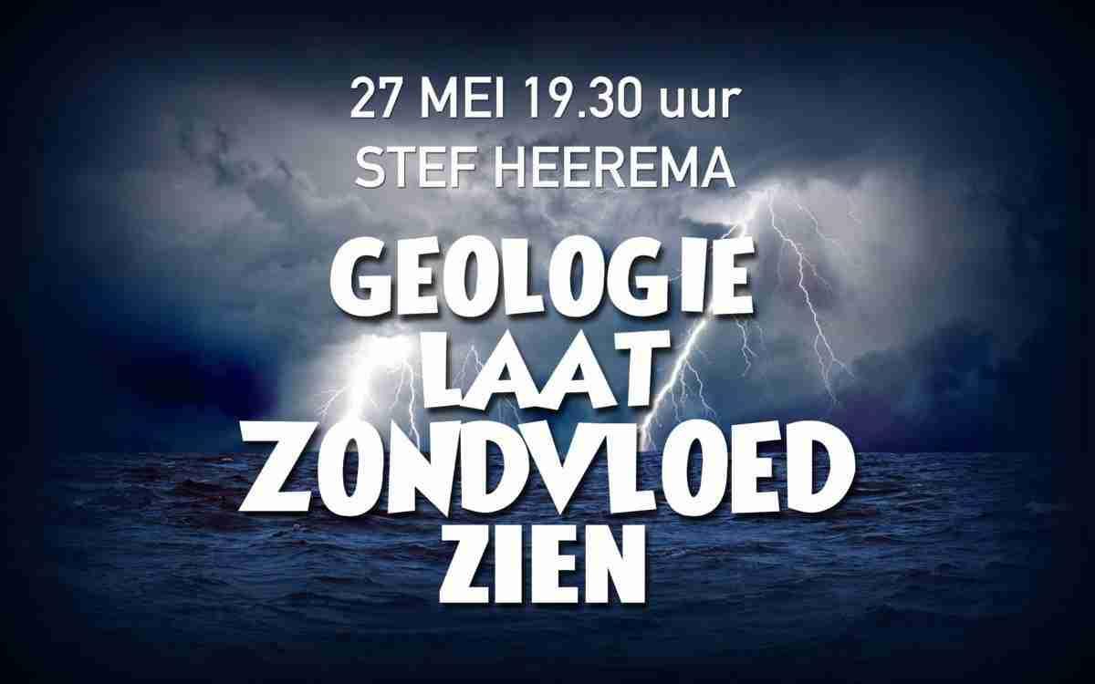 geologie van Nederland laat de zondvloed zien