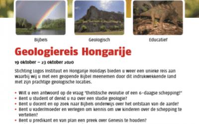 Flyer Geologiereis Hongarije 2020